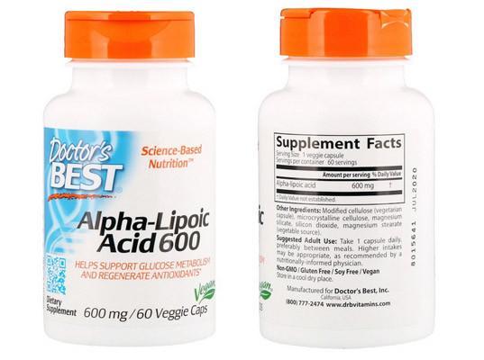 Альфа-липоевая кислота Doctors Best
