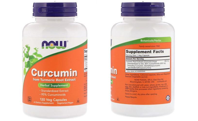 Now Foods куркумин в капсулах