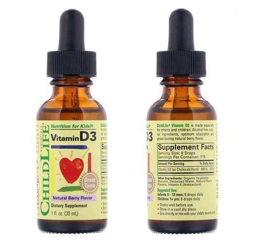 Жидкий детский витамин Д3 ChildLife