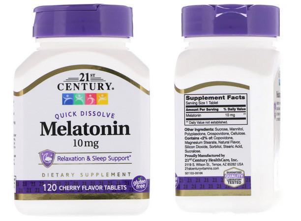 21st Century айхерб мелатонин 10 мг