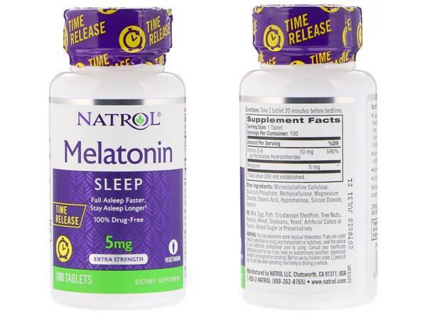 мелатонин в таблетках 5 мг