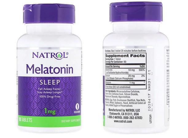 Natrol Мелатонин 1 мг