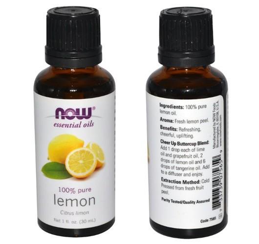 Эфирное масло лимона Now Foods