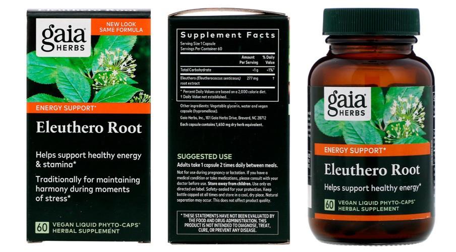 Корень элеутерококка Gaia Herbs
