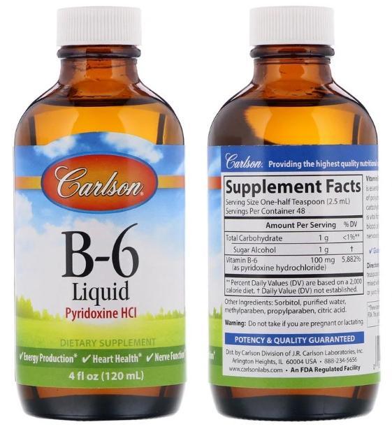 жидкий витамин В6 Carlson Labs