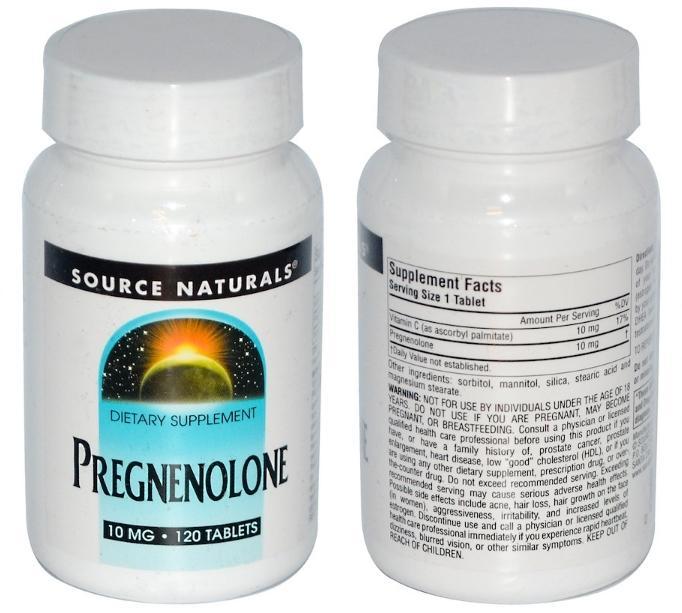 прегненолон Source Naturals в таблетках