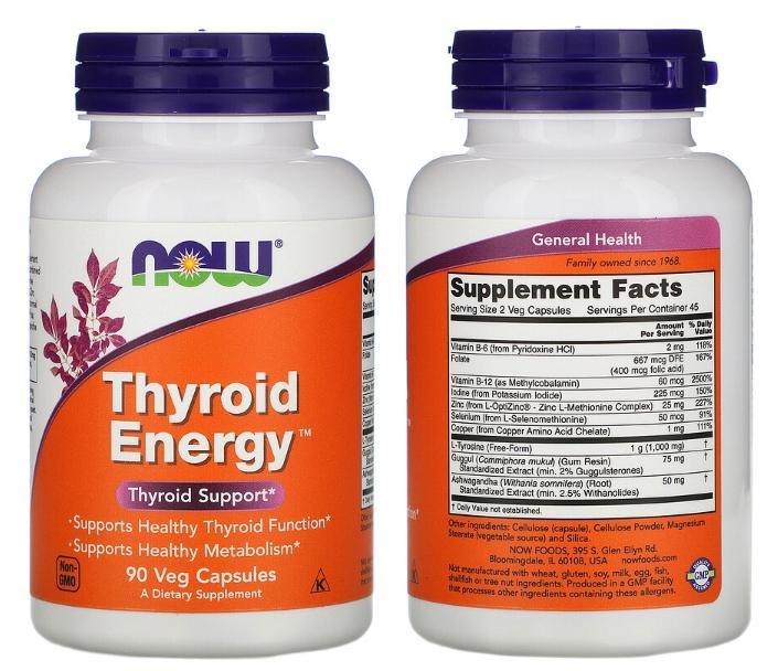Комплекс Thyroid Energy от Now Foods
