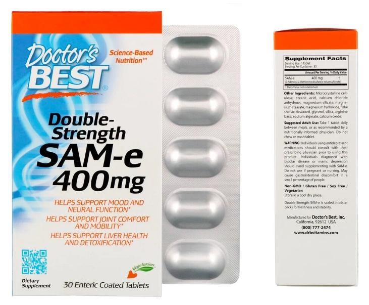 SAM-e 400 мг от Doctor's Best