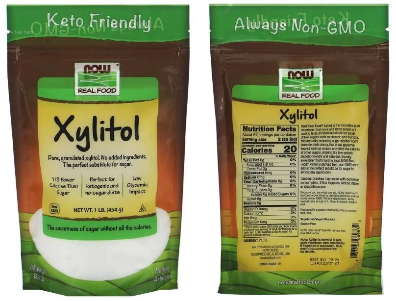 Ксилитол Real Food от Now Foods