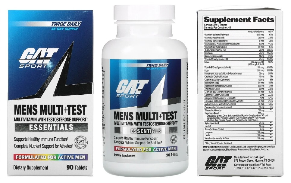 Мультивитаминная добавка Men's Multi+Test от GAT