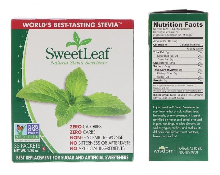 Натуральная стевия Sweetleaf Sweetener от Wisdom Natural