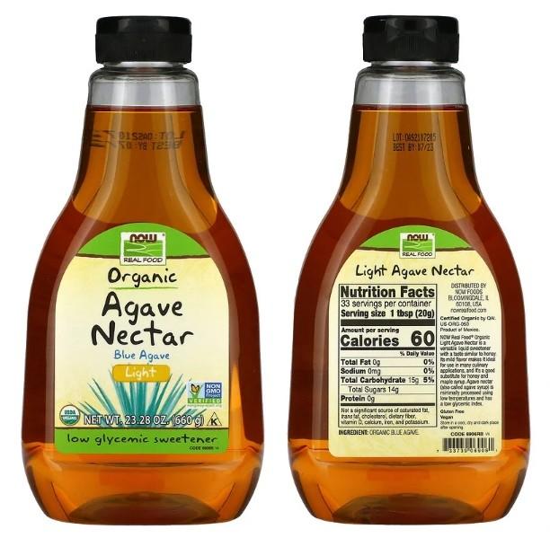 Органический сироп агавы Now Foods