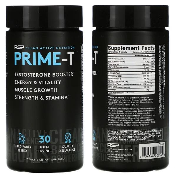 Усилитель тестостерона Prime-T от RSP Nutrition