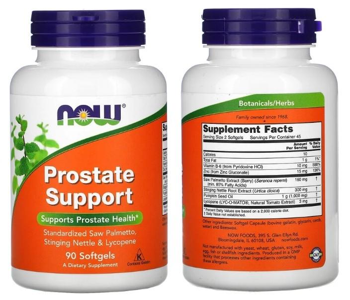 Prostate Support для здоровья простаты от Now Foods