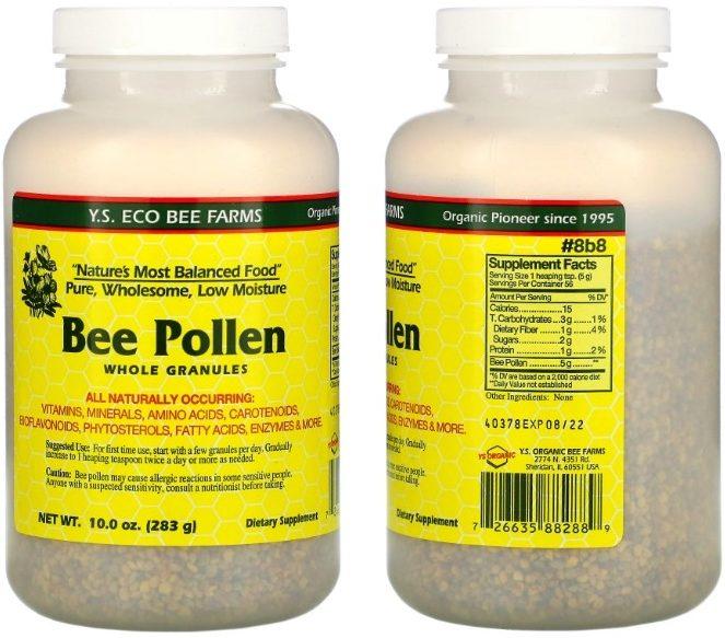 Пчелиная пыльца в гранулах Y.S. Eco Bee Farms
