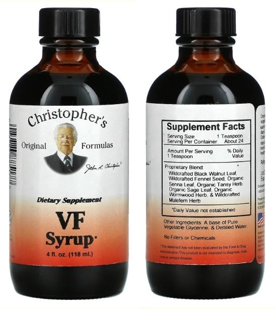 Сироп от паразитов Christopher's Original Formulas