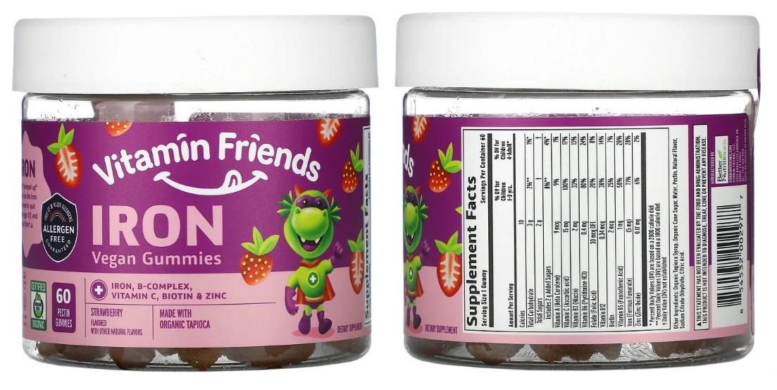 Жевательные таблетки с железом Vitamin Friends