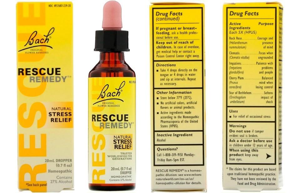 Капли Bach Rescue Remedy от стресса
