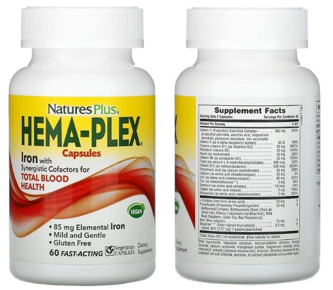 Комплекс Hema-Plex от компании Nature's Plus