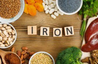 железо в продуктах питания