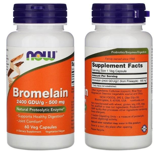 Бромелаин Now Foods