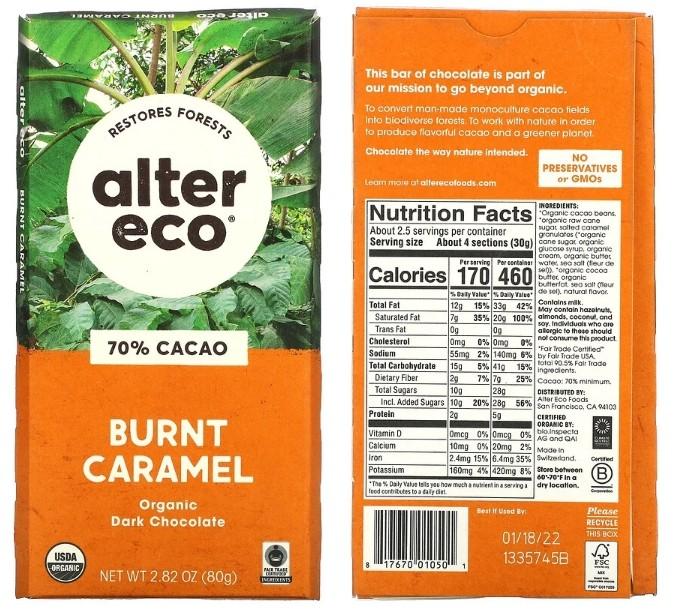 Классический черный шоколад Alter Eco