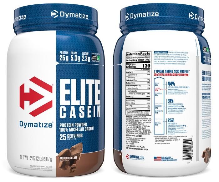 Мицеллярный казеин Elite Casein от Dymatize Nutrition