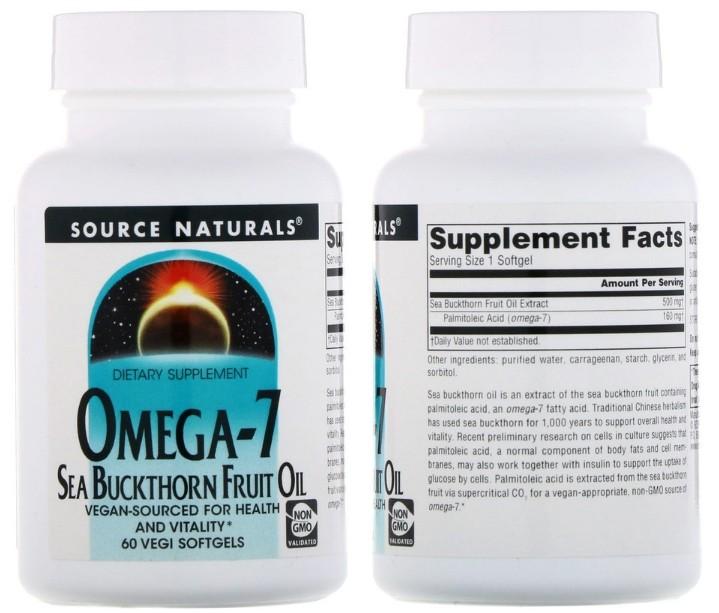 Омега-7 от Source Naturals