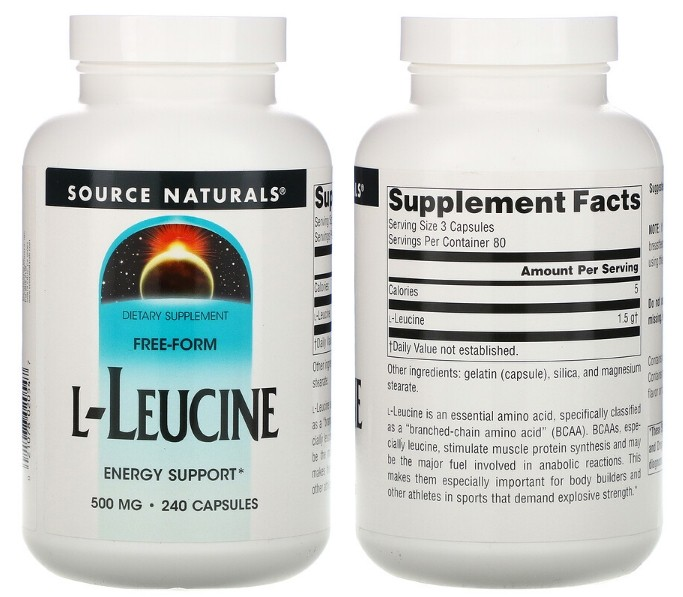 L-лейцин Source Naturals