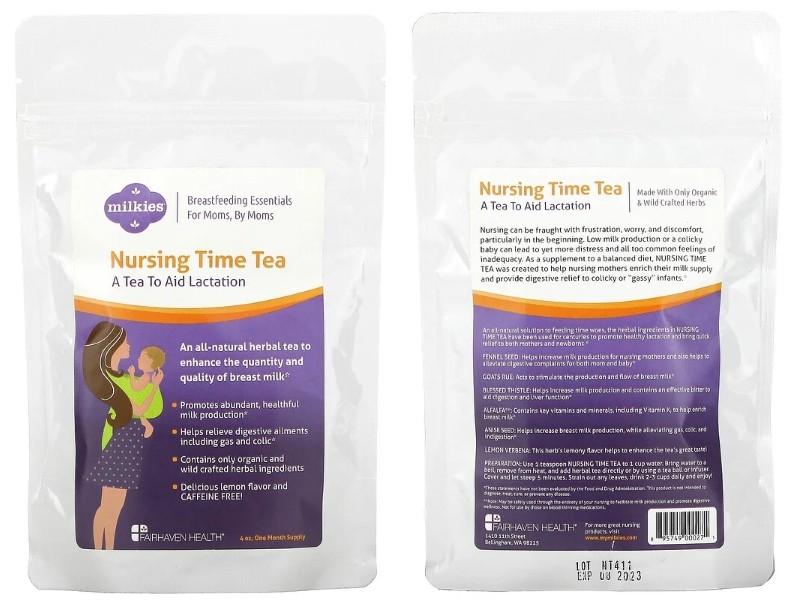 Чай на травах при лактации от Fairhaven Health