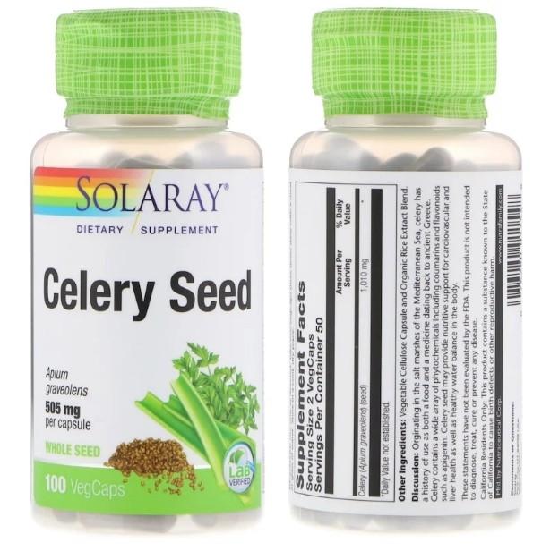 Экстракт семян сельдерея Solaray